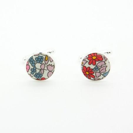 Noeud Papillon Liberty Rouge / Rose Emilia Flowers
