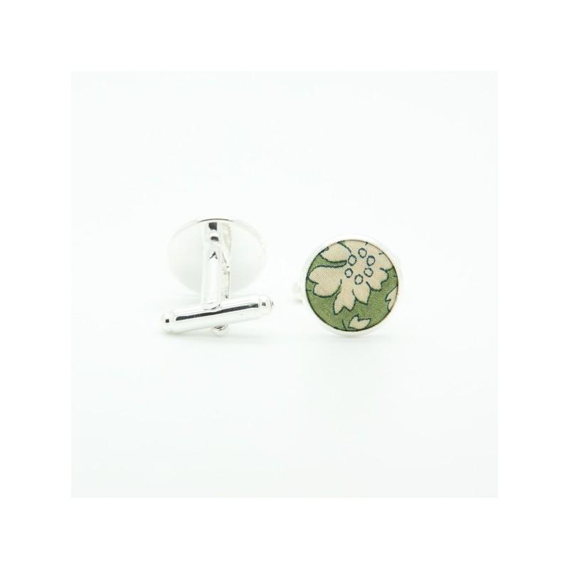 Boutons de manchette Liberty  Capel Vert Olive