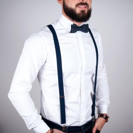 Navy skinny suspenders