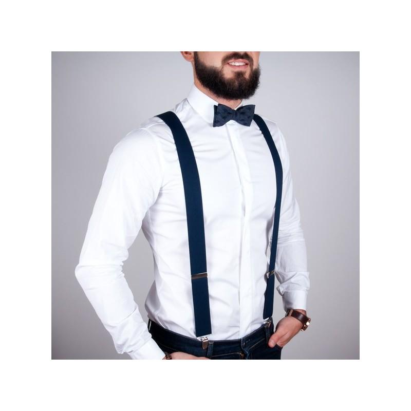 17a35db1992c Navy Blue LARGE Suspenders BERTELLES