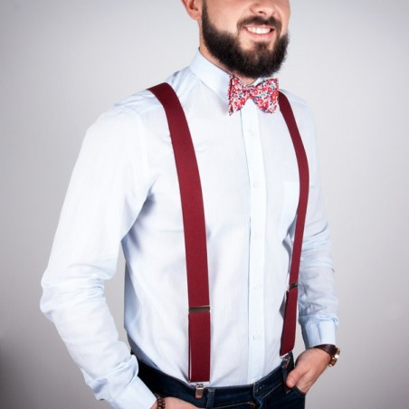 Burgundy large suspenders