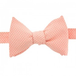 Light Pink with Pin Dots Bow Tie