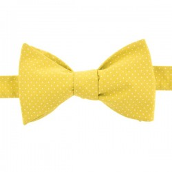 Absinthe Yellow with Pin Dots Bow Tie