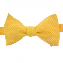 Sunshine Yellow with Pin Dots Bow Tie