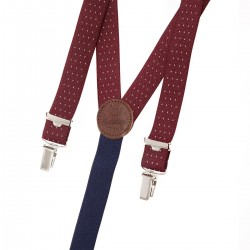 Navy dot skinny braces
