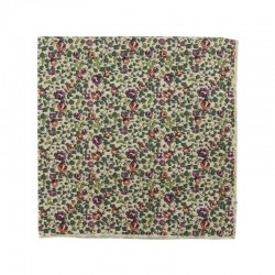 Beige Eloise Liberty pocket square