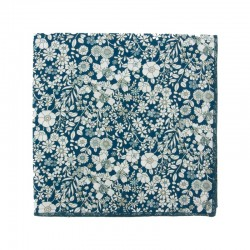 Cobalt blue June Meadow Liberty pocket square