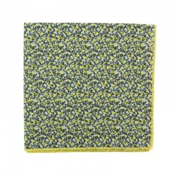 Yellow Pepper Liberty pocket square