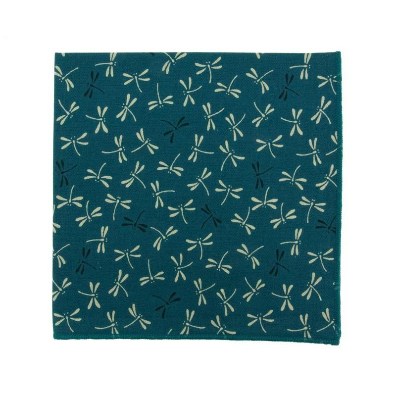 pochette de costume japonais libellule bleu canard le colonel moutarde. Black Bedroom Furniture Sets. Home Design Ideas