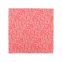 Coral pink Glenjade Liberty pocket square