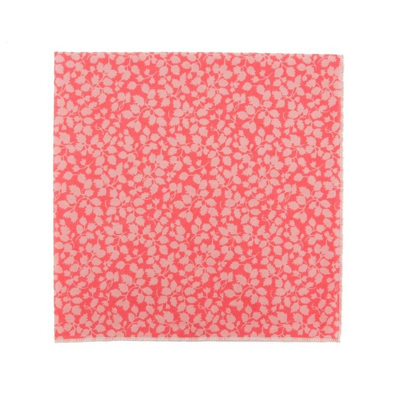 Coral pink Glenjade Liberty pocket square