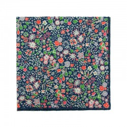 Navy blue Kayoko Liberty pocket square