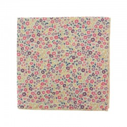 Dusky pink Fairford Liberty pocket square