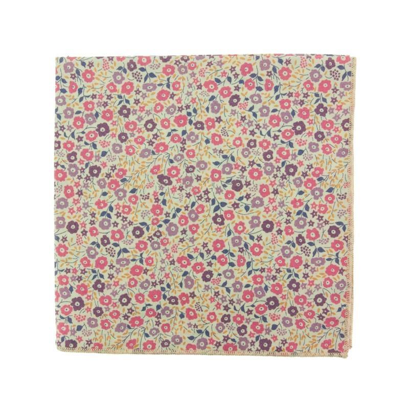 Dusky pink Fairford Liberty pocket square