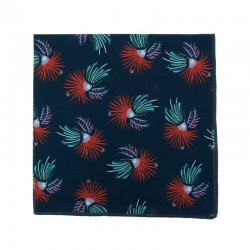 Purple Phoenix Japanese pocket square