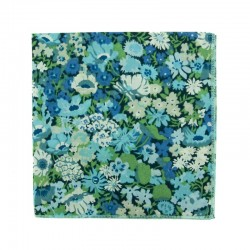 Green / blue Thorpe Liberty pocket square