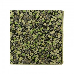 Green / black Wiltshire Liberty pocket square