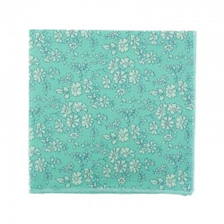 Turquoise Capel Liberty pocket square
