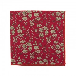 Pochette de costume Liberty Capel Rouge Bordeaux