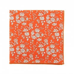 Orange Capel Liberty pocket square