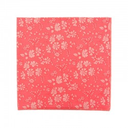 Coral Double Capel Liberty pocket square