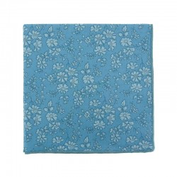 Double blue Capel Liberty pocket square