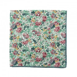 Pink / blue Claire Aude Liberty pocket square