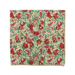 Red Claire Aude Liberty pocket square