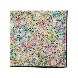 Multicoloured Grafitti Liberty pocket square