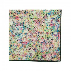 Multicoloured Grafitti Liberty pocket square