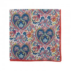 Summer Kitty Grace Liberty pocket square