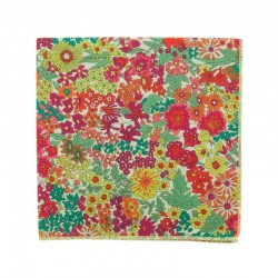 Green / Orange Liberty pocket square