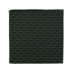 Black Seigaiha Japanese pocket square