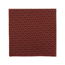 Burgundy Seigaiha Japanese pocket square