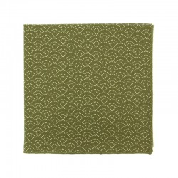 Green Seigaiha Japanese pocket square