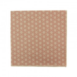 Dusky pink Asanoha Japanese pocket square