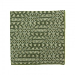 Light brown Asanoha Japanese pocket square
