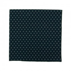 Navy blue apple blossoms japanse pocket square