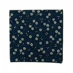 Navy Blue Sakura pocket square