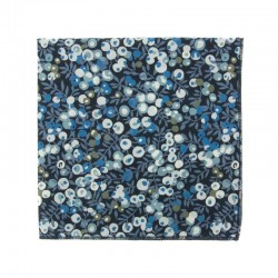 Navy blue Wiltshire Liberty pocket square