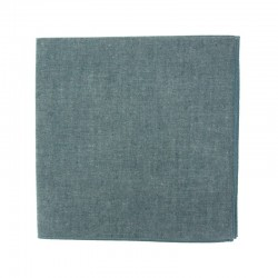 Navy blue chambray pocket square