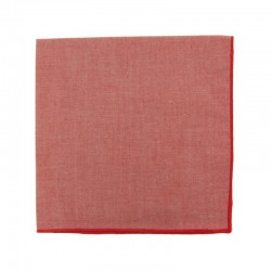 Pochette de costume en Chambray rouge