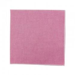 Pink chambray pocket square