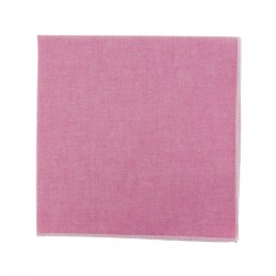 Pochette de costume en Chambray Rose