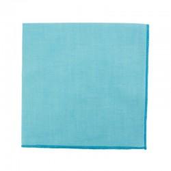Pochette de costume en Chambray Bleu Cyan
