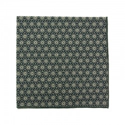 Black asanoha japanese pocket square