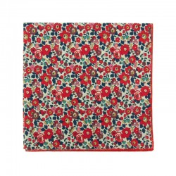 Red Betsy Ann Liberty pocket square