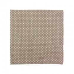 Beige with pin dots pocket square