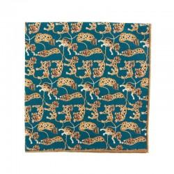 Pochette de costume Liberty Tiger Bleu pétrole