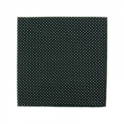 Black with pin dots pocket square
